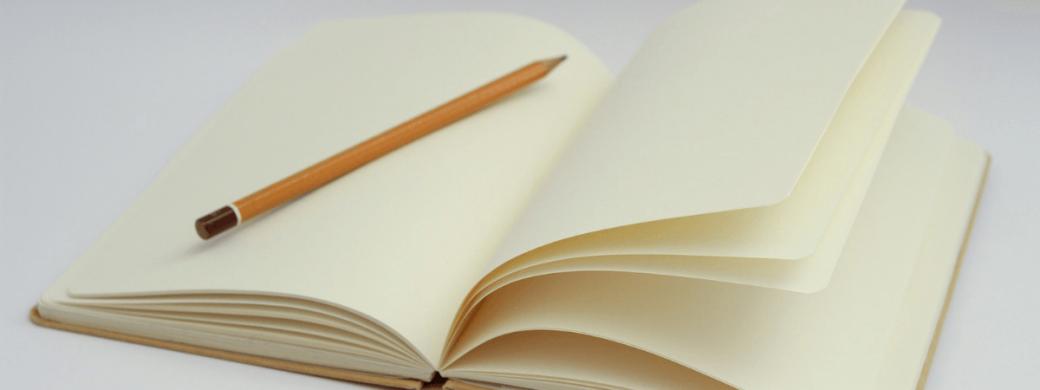 Uitstelgedrag leeg noteboek