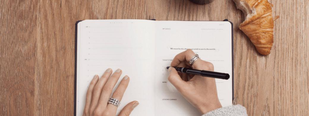 Notebook op bureau