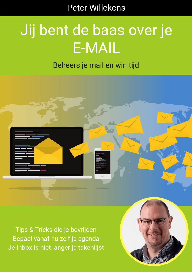 Boekomslag Jij bent de baas over je mail