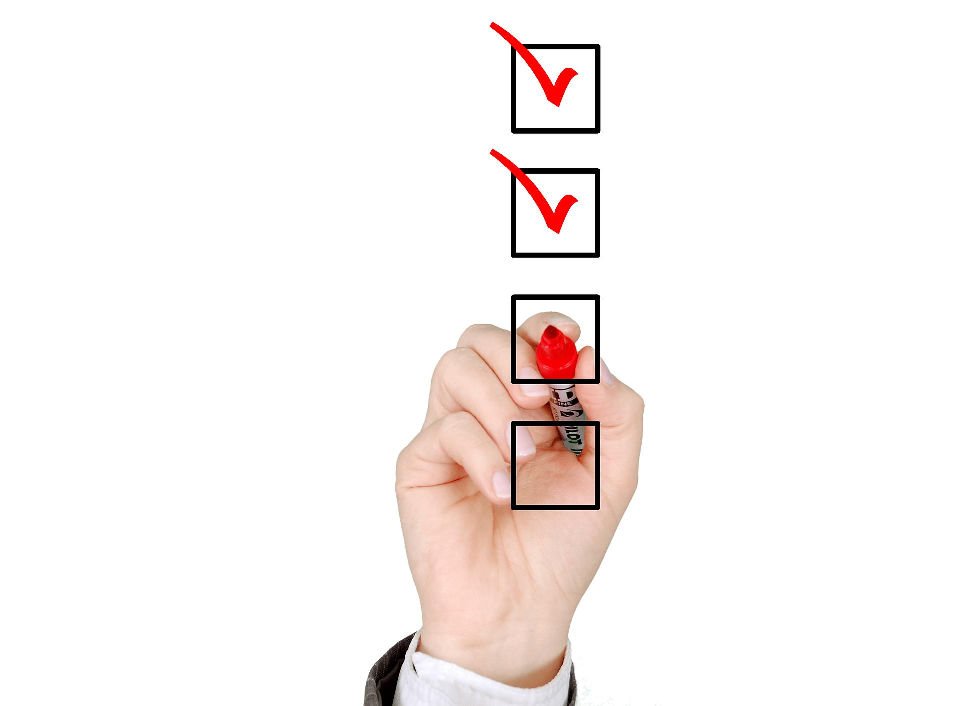 Lijst van taken voor meer productiviteit