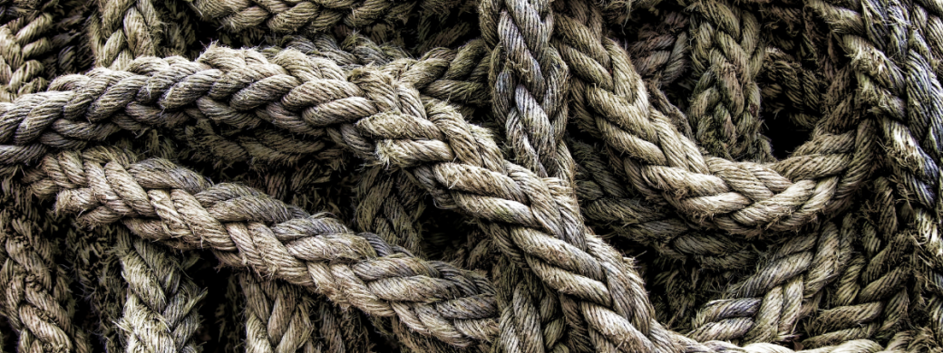 touw in een kluwen