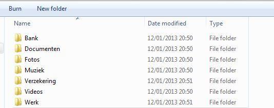 Afbeelding van folders op een pc