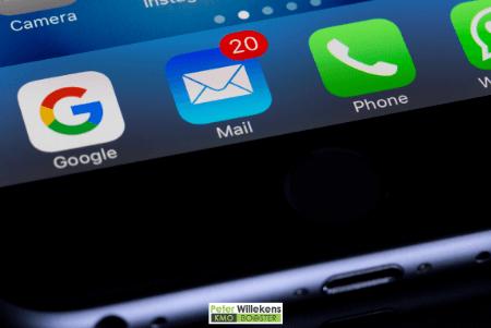 Screenshot met icoon van mail