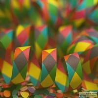 Gekleurde slingers in krullen